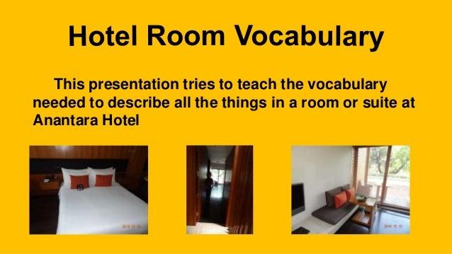 Anantara Hotel Vocabulary