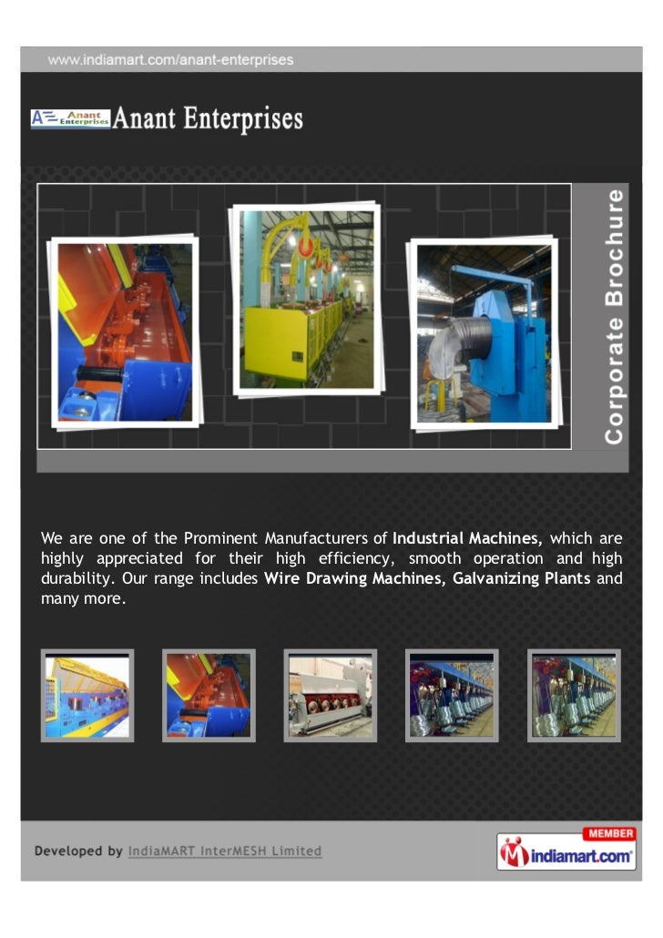 We are one of the Prominent Manufacturers of Industrial Machines, which arehighly appreciated for their high efficiency, s...