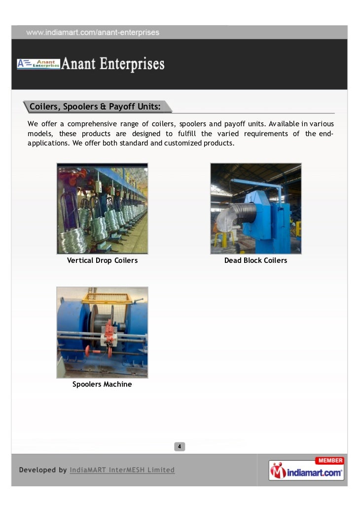 Coilers, Spoolers & Payoff Units:We offer a comprehensive range of coilers, spoolers and payoff units. Available in variou...