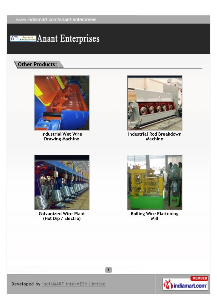 Other Products:         Industrial Wet Wire   Industrial Rod Breakdown           Drawing Machine              Machine     ...