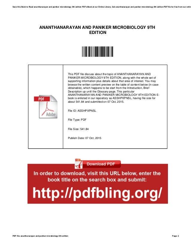Panicker Microbiology Ebook