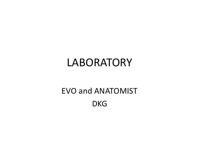 LABORATORY EVO and ANATOMIST DKG