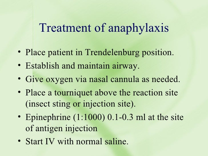treating anaphylaxix essay Aaaai, the experts in allergy and immunology, provide an overview of anaphylaxis.