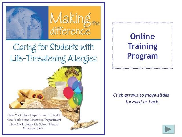 Online Training Program Click arrows to move slides forward or back