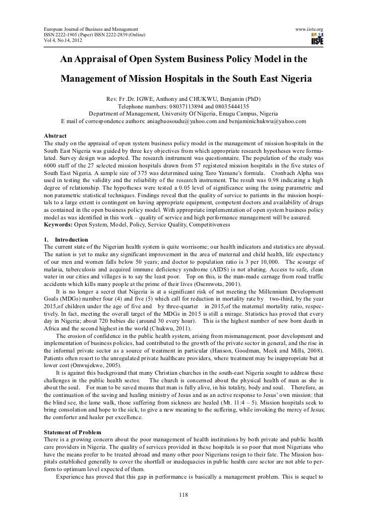 European Journal of Business and Management                                                             www.iiste.orgISSN ...