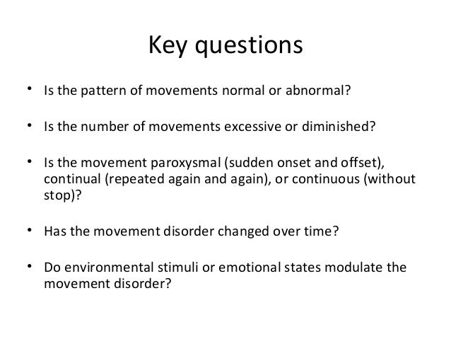 An approach to a child with abnormal movement