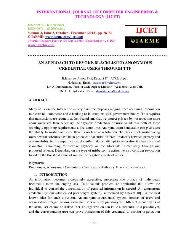 INTERNATIONAL JOURNAL OF COMPUTER ENGINEERING &International Journal of Computer Engineering and Technology (IJCET), ISSN ...