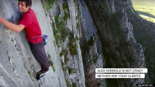 ALEX HONNOLD IS NOT CRAZY NEITHER ARE YOUR CLIENTS ANA REYES, PHD