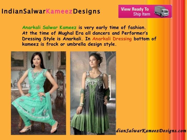 IndianSalwar Kameez Designs   IndianSalwarKameezDesigns.com Anarkali Salwar Kameez  is very early time of fashion. At the ...