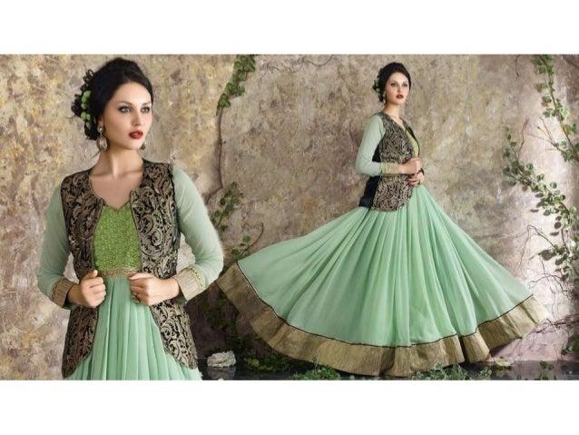 Indian Party Wear Dresses | Latest Designer Anarkali Suits New Flora…
