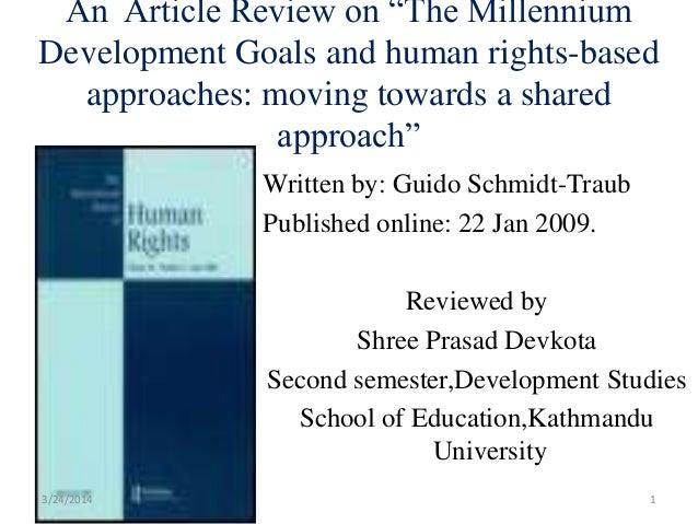 Written by: Guido Schmidt-Traub Published online: 22 Jan 2009. Reviewed by Shree Prasad Devkota Second semester,Developmen...