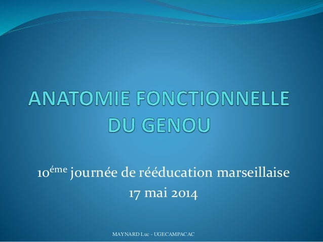 10éme journée de rééducation marseillaise 17 mai 2014 MAYNARD Luc - UGECAMPACAC
