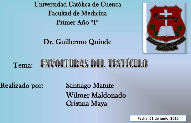 """Universidad Católica de Cuenca<br />Facultad de Medicina<br />Primer Año """"I""""<br />Dr. Guillermo Quinde<br />   Tema:    EN..."""