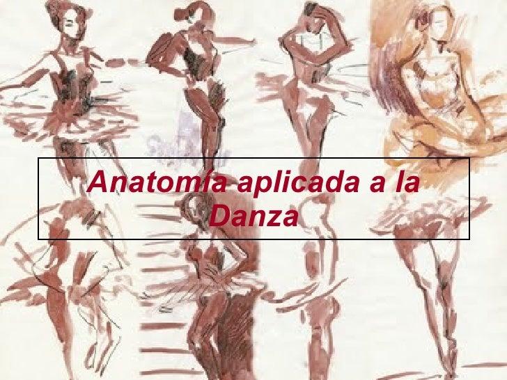 Anatomía aplicada a la danza