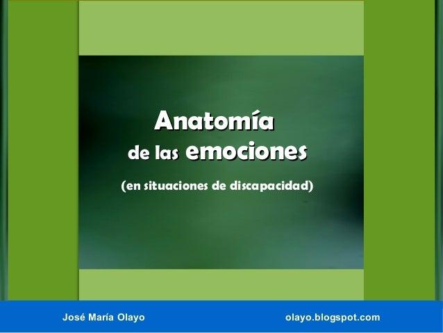 Anatomía de las emociones (en situaciones de discapacidad).