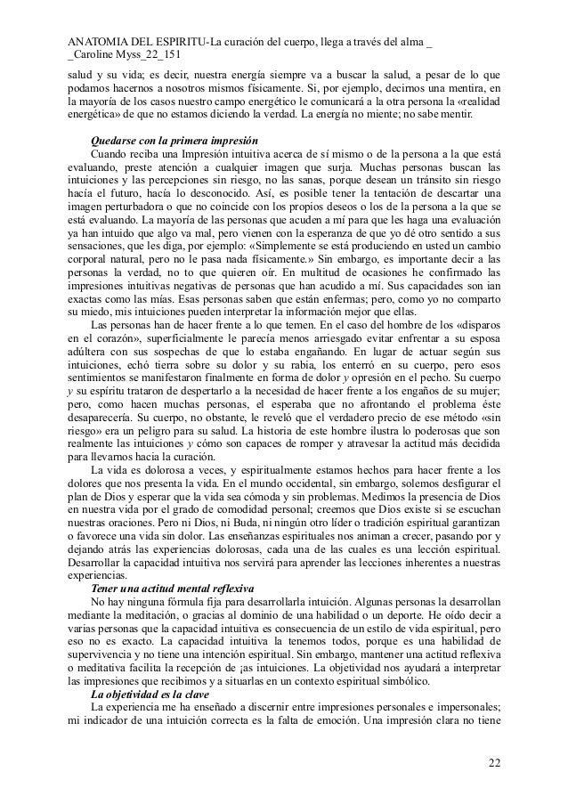 Contemporáneo Anatomía Del Espíritu Por Myss Caroline Molde ...