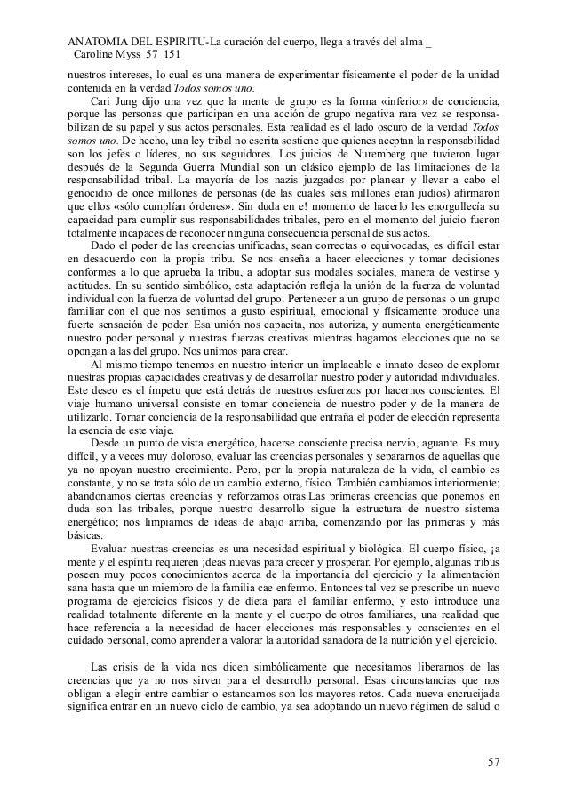 Único Caroline Anatomía Myss Del Espíritu Ilustración - Anatomía y ...