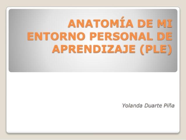 Anatomía de mi entorno personal de aprendizaje (presentacion)