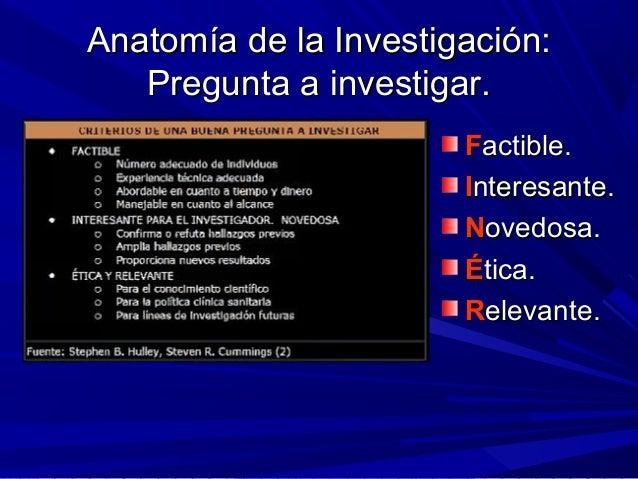 Anatomía y fisiología de una investigación clínica