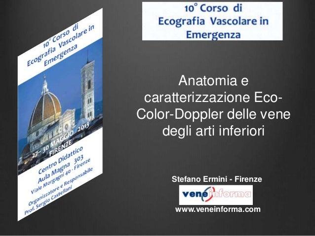 Anatomia e caratterizzazione Eco- Color-Doppler delle vene degli arti inferiori Stefano Ermini - Firenze www.veneinforma.c...