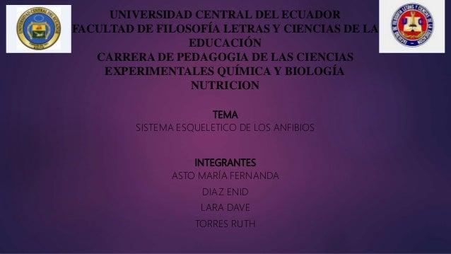 UNIVERSIDAD CENTRAL DEL ECUADOR FACULTAD DE FILOSOFÍA LETRAS Y CIENCIAS DE LA EDUCACIÓN CARRERA DE PEDAGOGIA DE LAS CIENCI...
