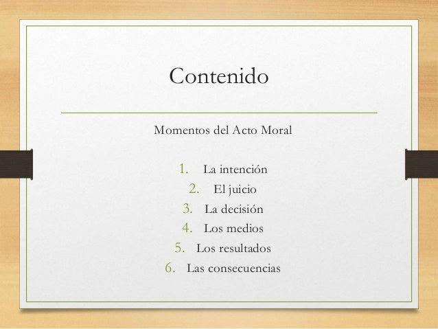 Anatomia del acto moral