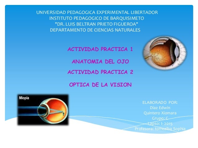 "UNIVERSIDAD PEDAGOGICA EXPERIMENTAL LIBERTADOR INSTITUTO PEDAGOGICO DE BARQUISIMETO ""DR. LUIS BELTRAN PRIETO FIGUEROA"" DEP..."