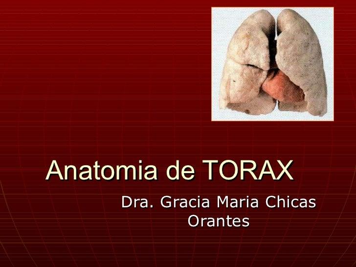 Anatomia de TORAX Dra. Gracia Maria Chicas Orantes
