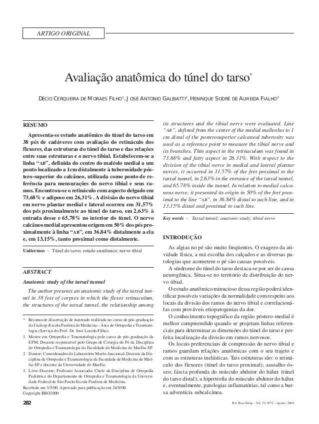D.C. MORAES Fº, J.A. GALBIATTI & H.S. ALMEIDA FIALHO        ARTIGO ORIGINAL                        Avaliação anatômica do ...