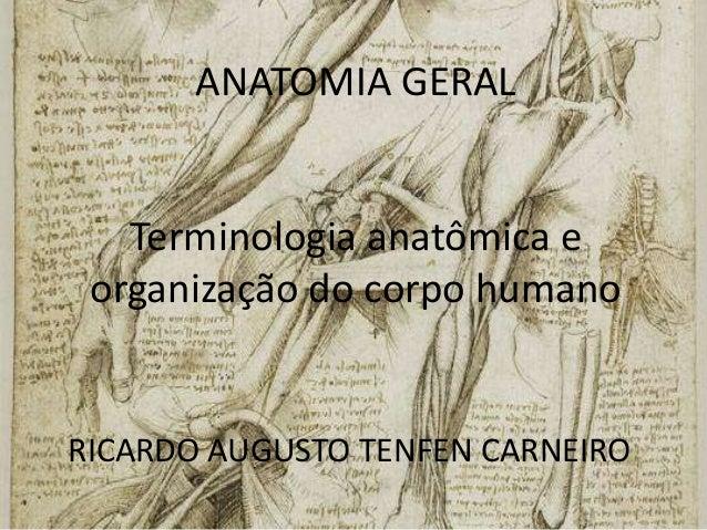 ANATOMIA GERALTerminologia anatômica eorganização do corpo humanoRICARDO AUGUSTO TENFEN CARNEIRO