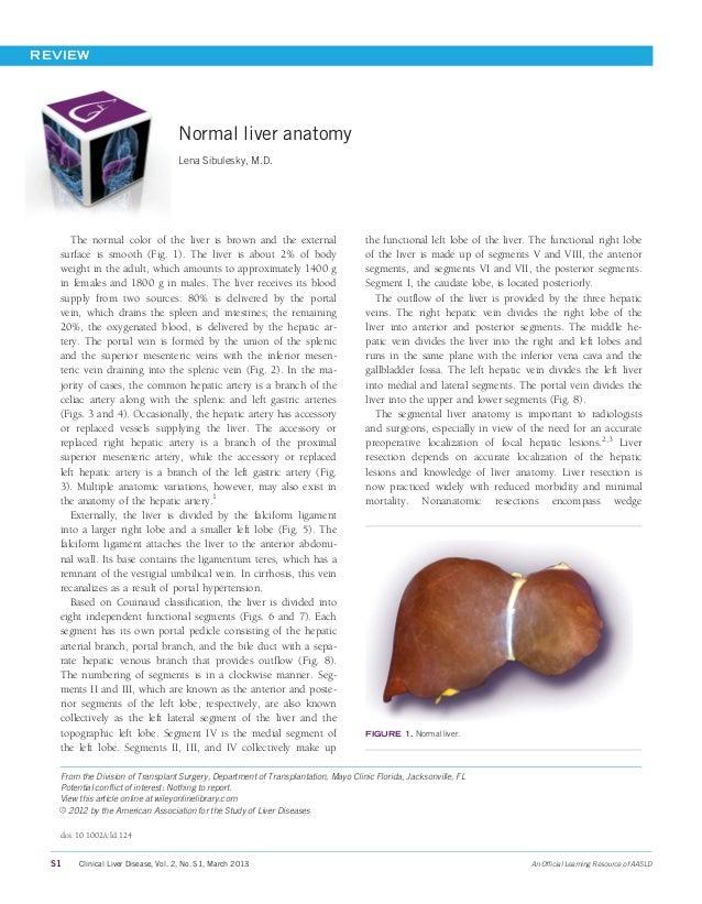 Anatomia hepática normal (2013)