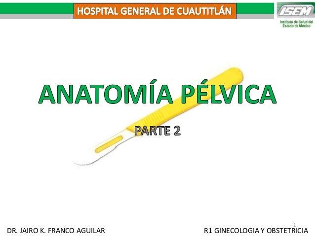 DR. JAIRO K. FRANCO AGUILAR R1 GINECOLOGIA Y OBSTETRICIA 1