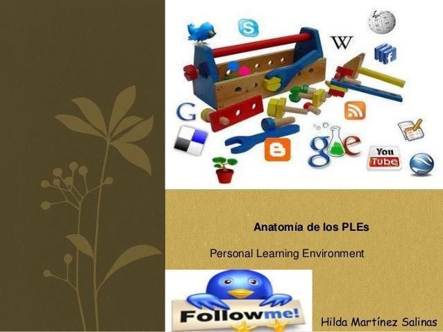 Anatomía de los PLEs Personal Learning Environment Hilda Martínez Salinas