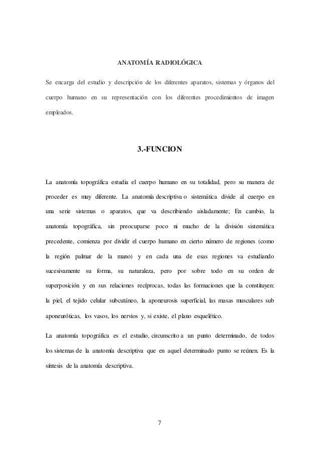 ANATOMIA TOPOGRAFICA, HISTORIA RELACION E IMPORTANCIA
