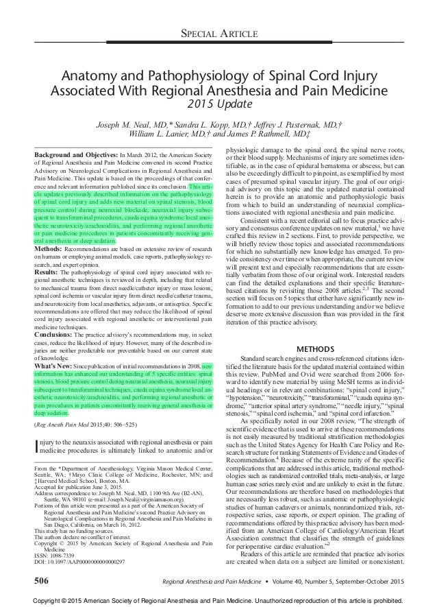 Anatomia y fisiopatologia de la injuria asociada con la anestesia reg…