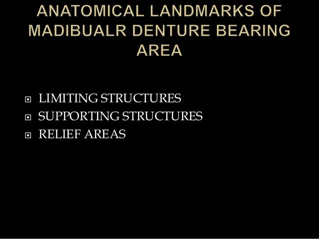  LIMITING STRUCTURES  SUPPORTING STRUCTURES  RELIEF AREAS