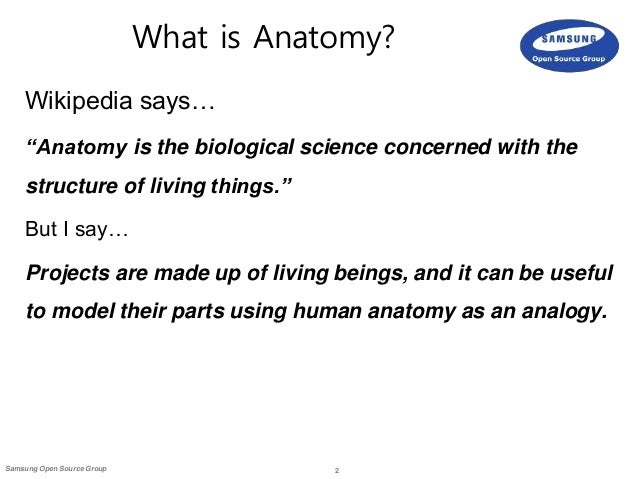 anatomy of an open source project: key factors to success, Human Body