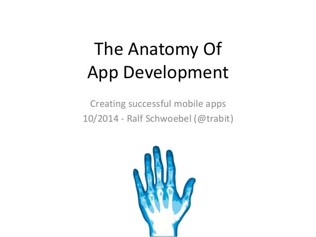 The Anatomy Of  App Development  Creating successful mobile apps  10/2014 - Ralf Schwoebel (@trabit)