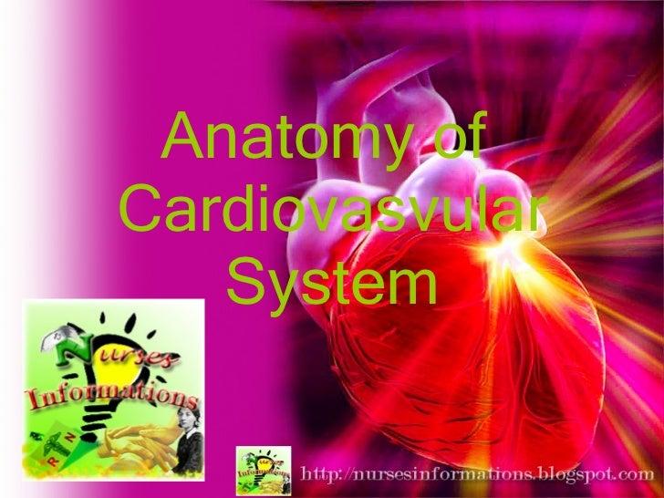Anatomy of  Cardiovasvular System