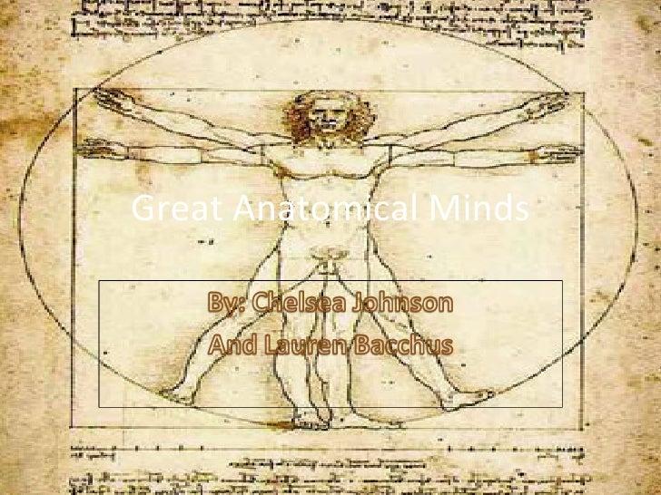 Great Anatomical Minds