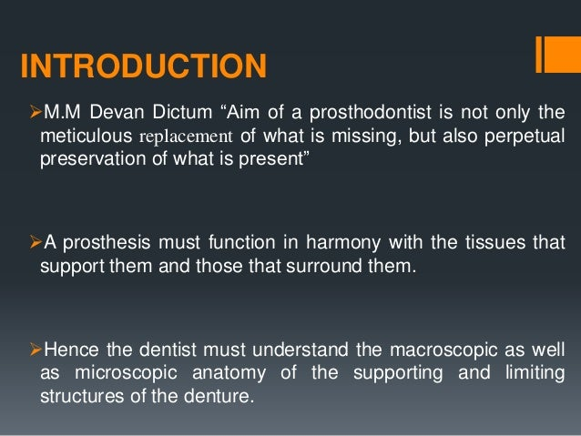 Anatomy and clinical significance of denture bearing areas Slide 3