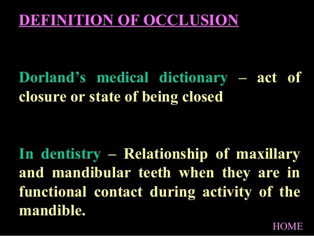 Anatomy and dev of occlusion/ oral surgery courses