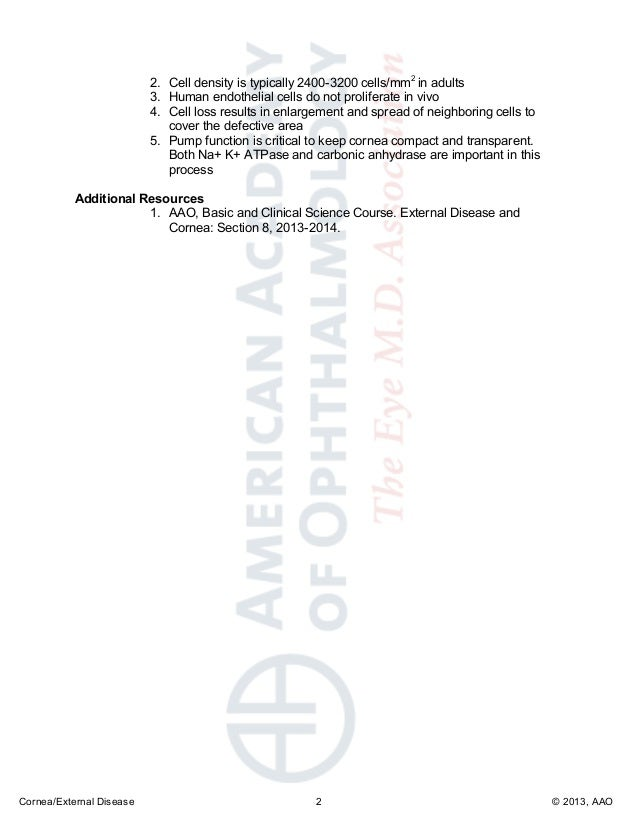 Anatomy and embryology of the cornea cornea - moc - 2014 - page 14-…