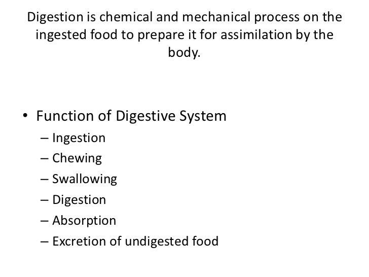 • Functions of the Stomach  – Storage of food for 3 hours  – Partial digestion of proteins and fats  – Semi digested food ...