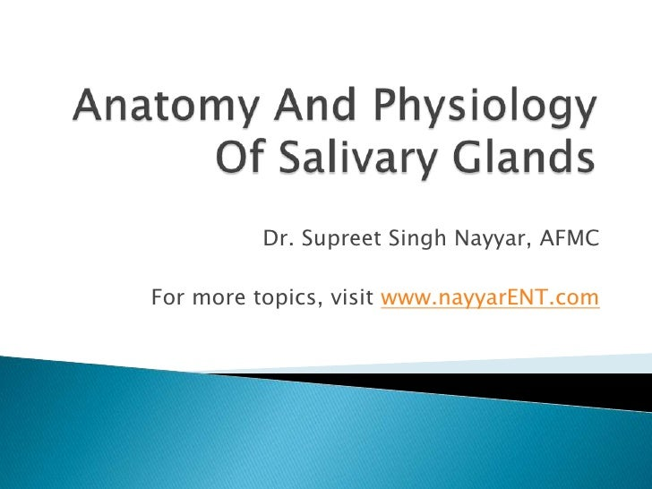Dr. Supreet Singh Nayyar, AFMCFor more topics, visit www.nayyarENT.com