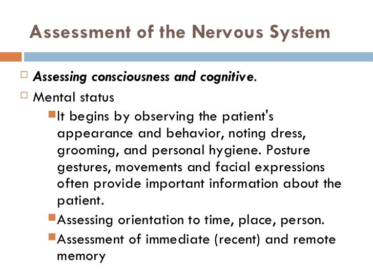 Anatomy and physiology of the nervous system