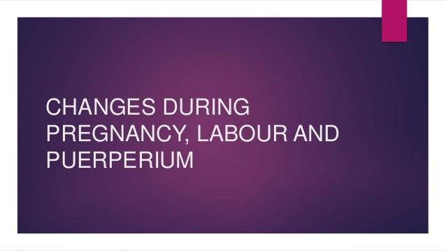 CHANGES DURING  PREGNANCY, LABOUR AND  PUERPERIUM
