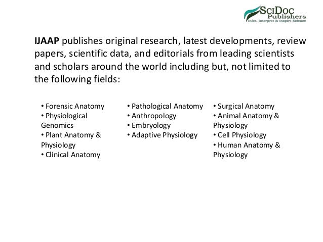 Anatomy & Applied Physiology Journal-SciDocPublishers