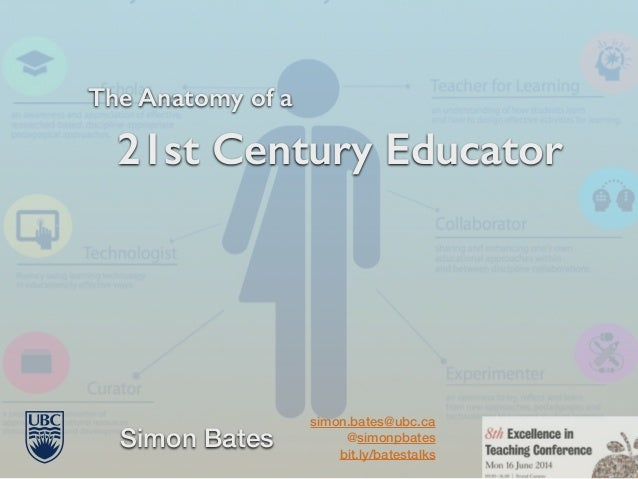 The Anatomy of a 21st Century Educator Simon Bates simon.bates@ubc.ca @simonpbates bit.ly/batestalks