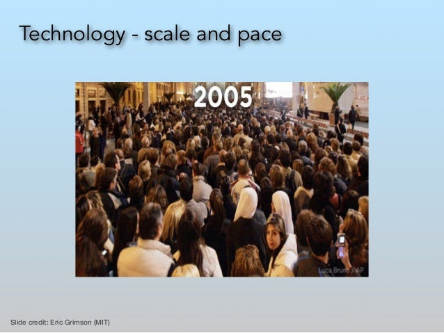 Technology - scale and pace Slide credit: Eric Grimson (MIT)